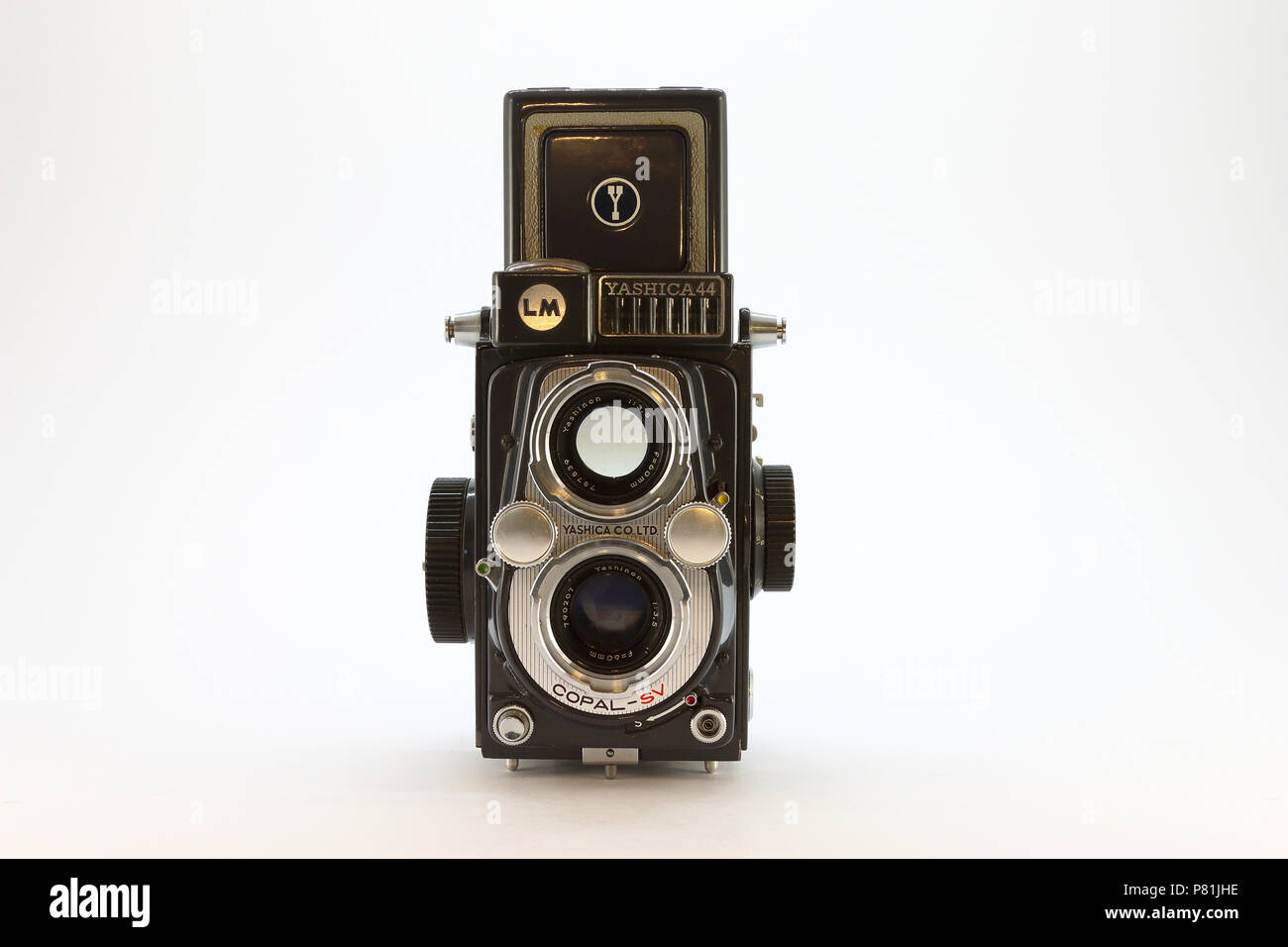 Yashica-44LM from the 1950's front view - Stock Image