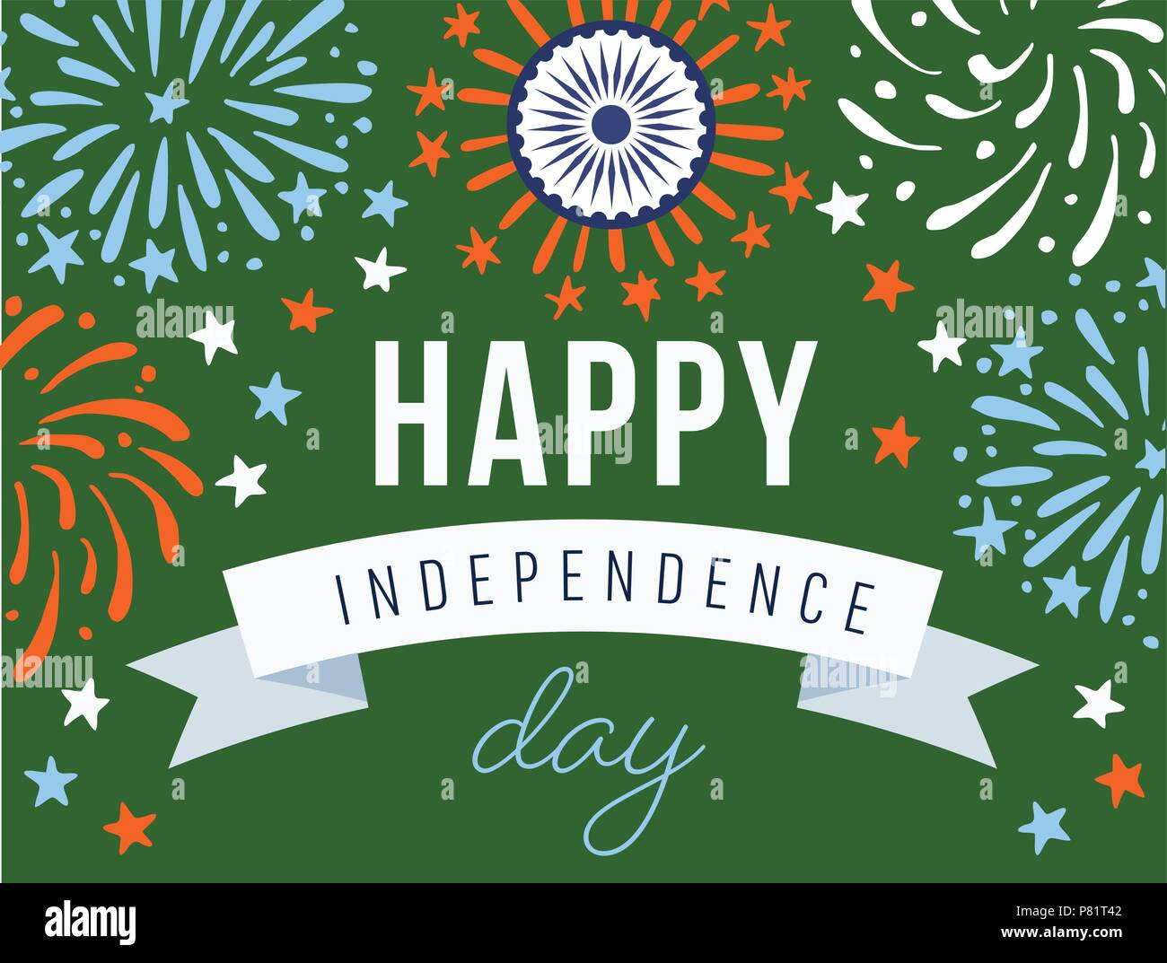 Happy Independence Day 15th August National Holiday