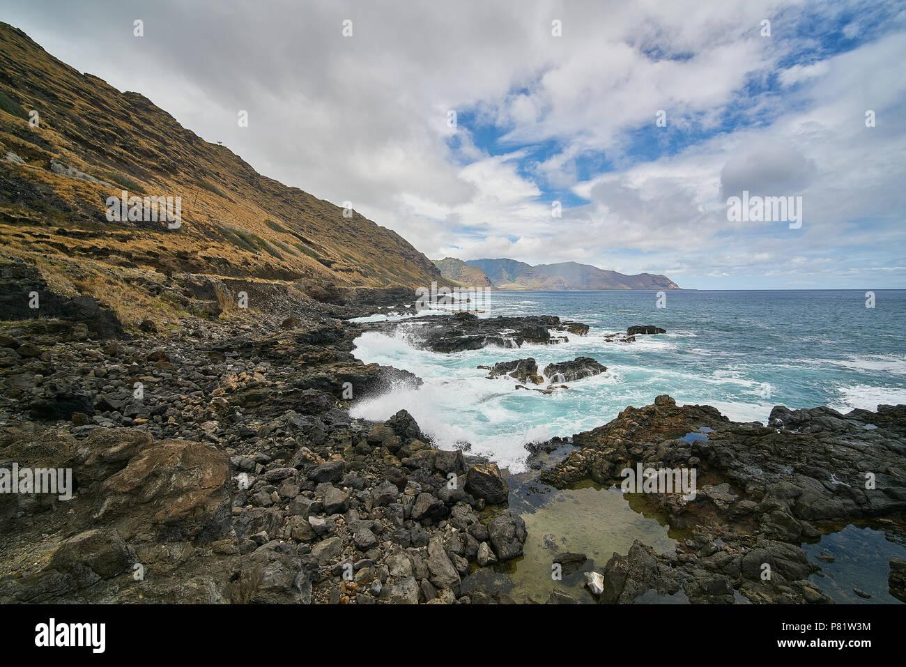 Kaena Point Waianae Coast Oahu Hawaii - Stock Image