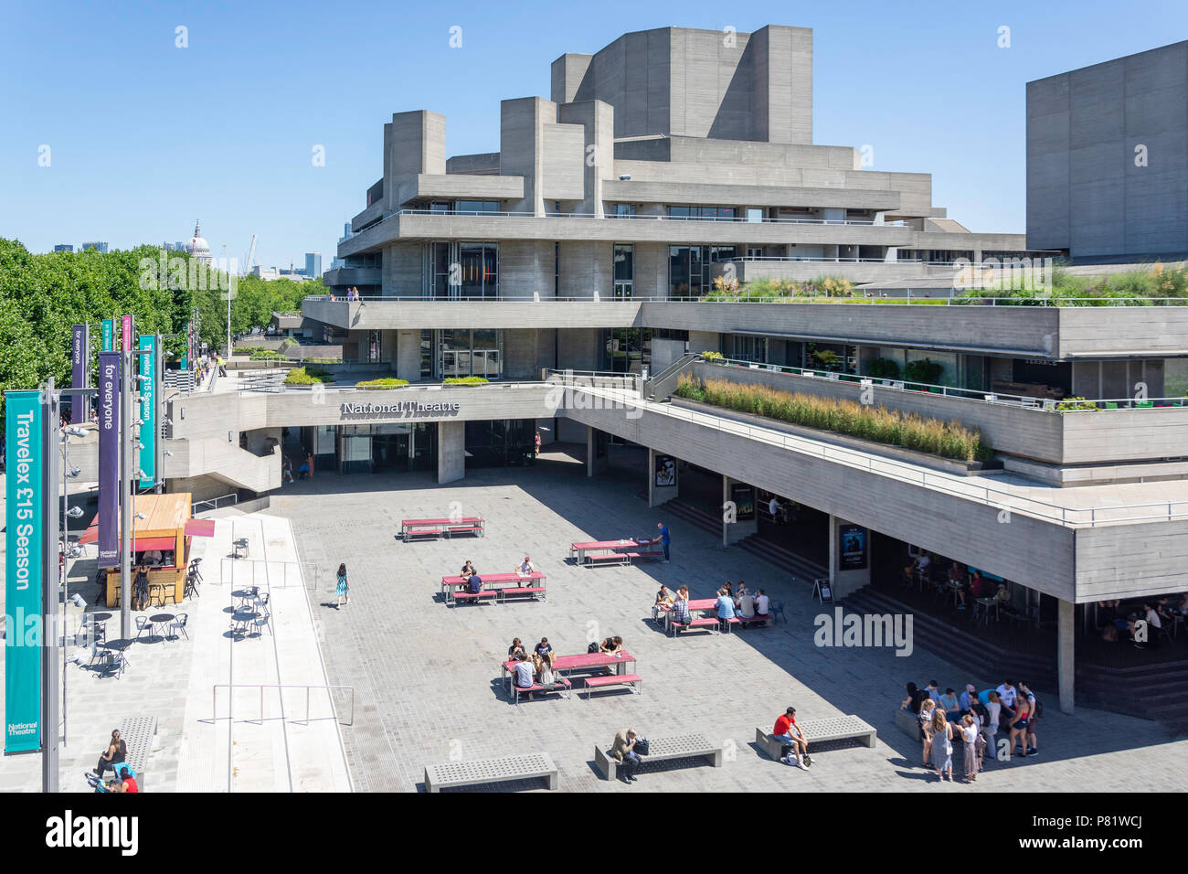 National Theatre, Southbank Centre, South Bank, London Borough of Lambeth, Greater London, England, United Kingdom - Stock Image