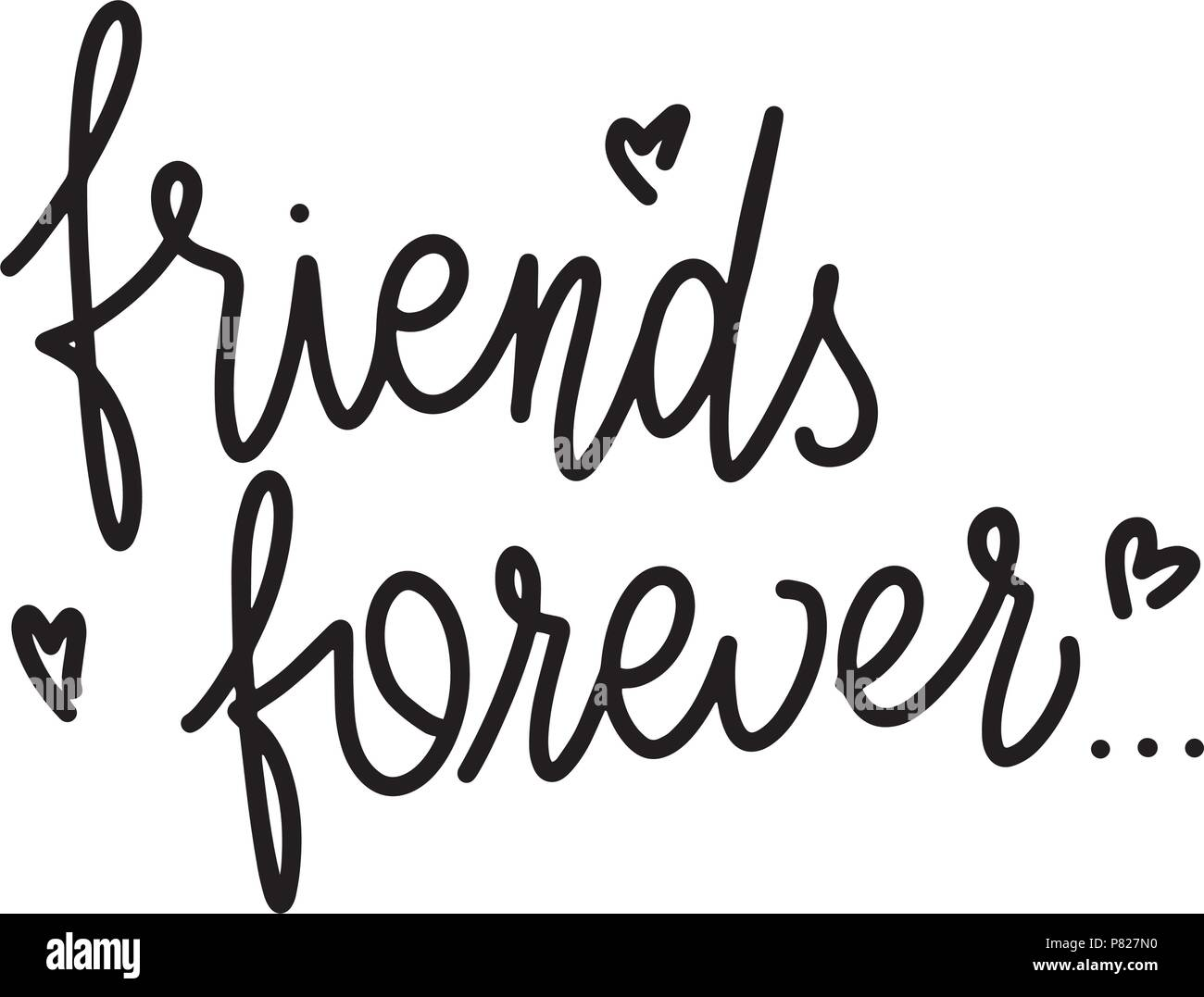Friendship day hand drawn lettering friends forever vector friendship day hand drawn lettering friends forever vector elements for invitations posters greeting cards t shirt design m4hsunfo