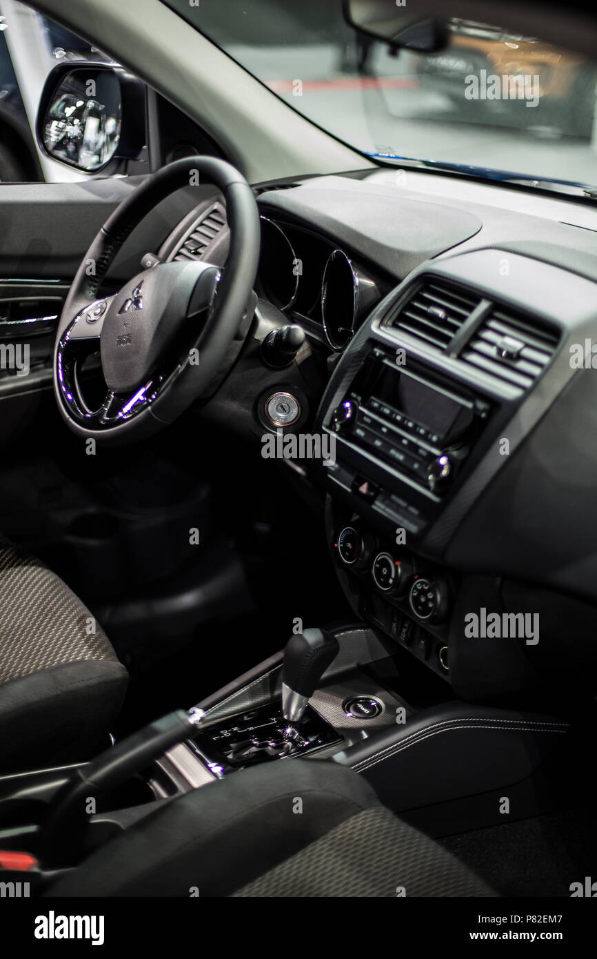 Minsk, May 2018 Interior of mitsubishi asx known as outlander sport ...