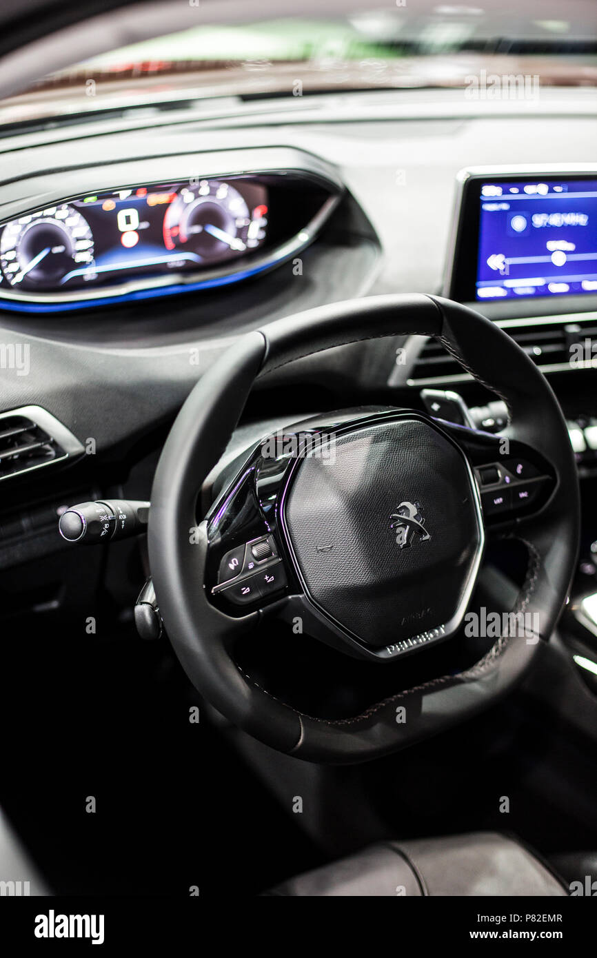 Minsk, May 2018 Interior of Peugeot 3008 Stock Photo: 211497127 - Alamy