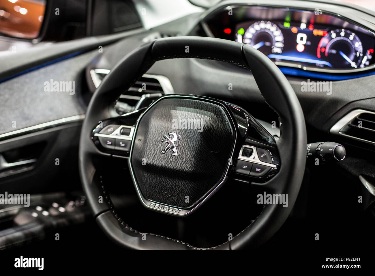 Minsk, May 2018 Interior of peugeot 3008 Stock Photo: 211497133 - Alamy