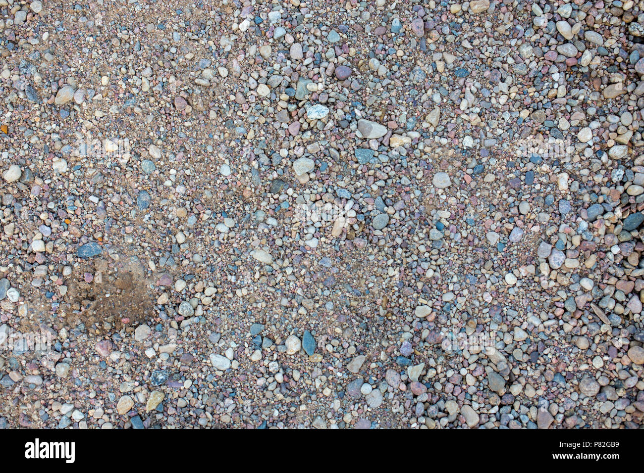 Small stones pattern texture background - Stock Image