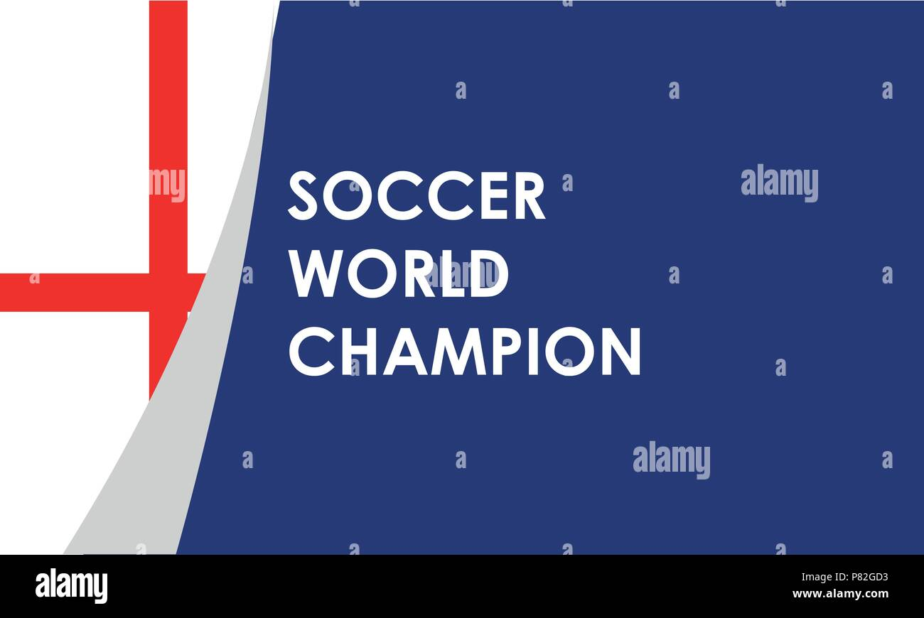 England soccer ball on field in soccer stadium to celebrate for football match result with spot light background. Design for banner, poster of nation championship template - Stock Vector