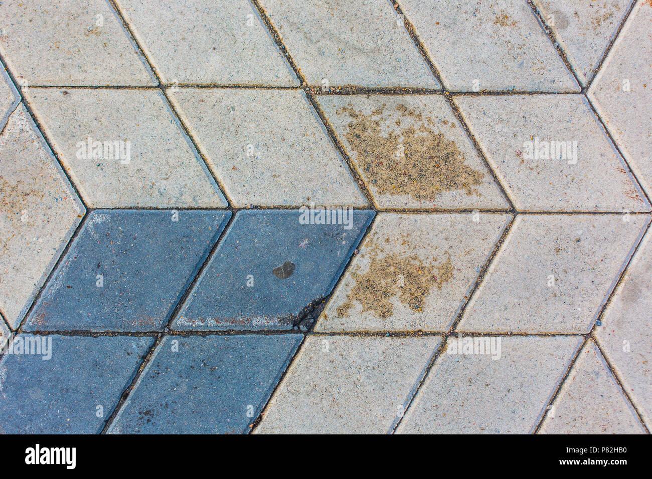 rhombus concrete tiles pattern texture background Stock Photo ...