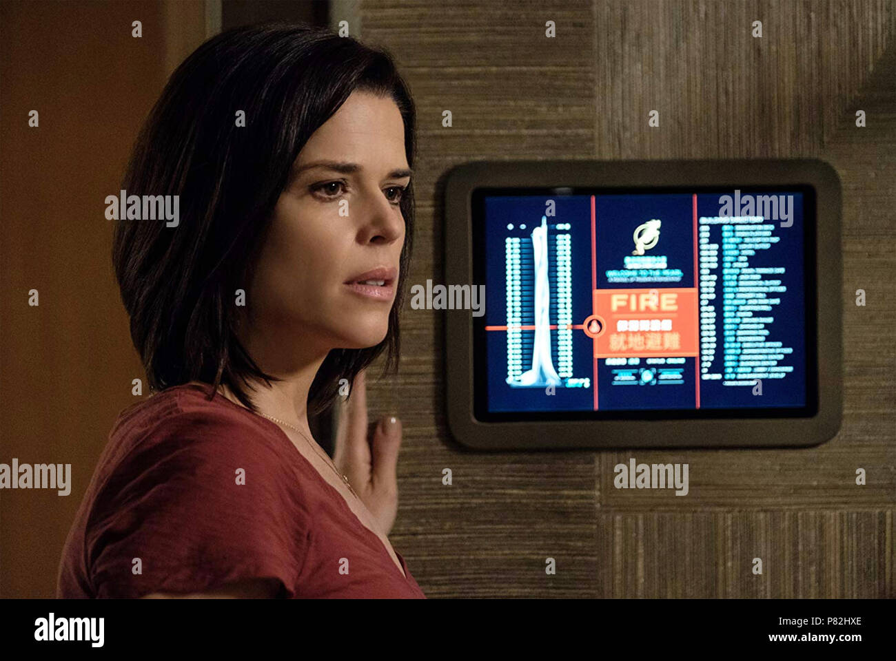 SKYSCRAPER 2018 Legendary Entertainment film with Neve Campbell - Stock Image
