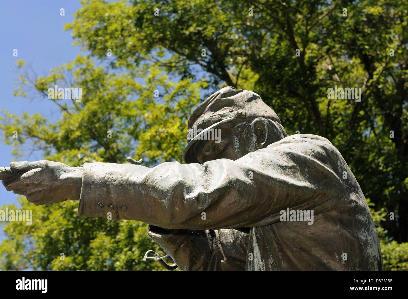 Statue of a union soldier honoring the soldiers who fought for Wisconsin at the siege of Vicksburg during the Civil War. - Stock Image