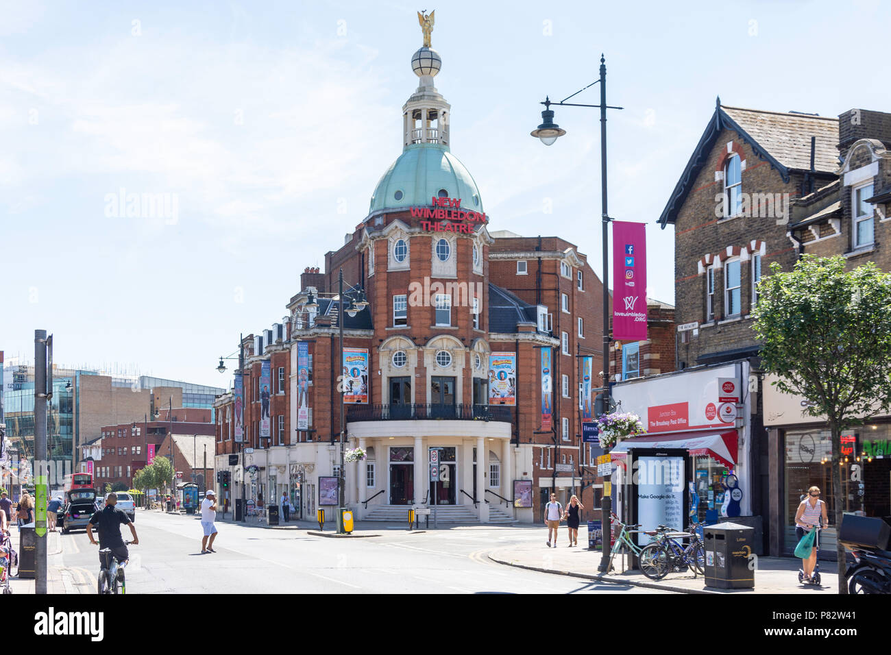 New Wimbledon Theatre, The Broadway, Wimbledon, London Borough of Merton, Greater London, England, United Kingdom - Stock Image