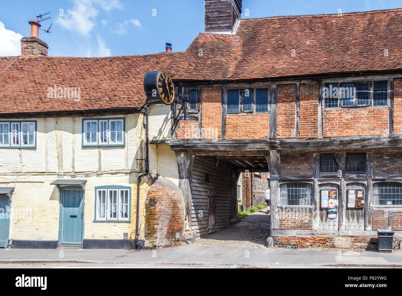 West Wycombe, England-3rd June 2018: Typical old buildings in the town. - Stock Image