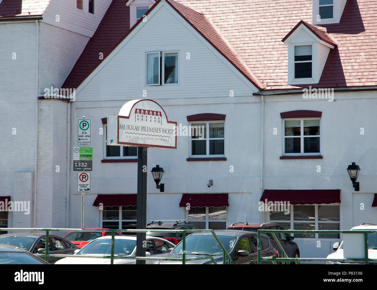 June 23, 2018 - St. Johns, Newfoundland: The beautiful Murray Premises hotel on Beck's Cove - Stock Image