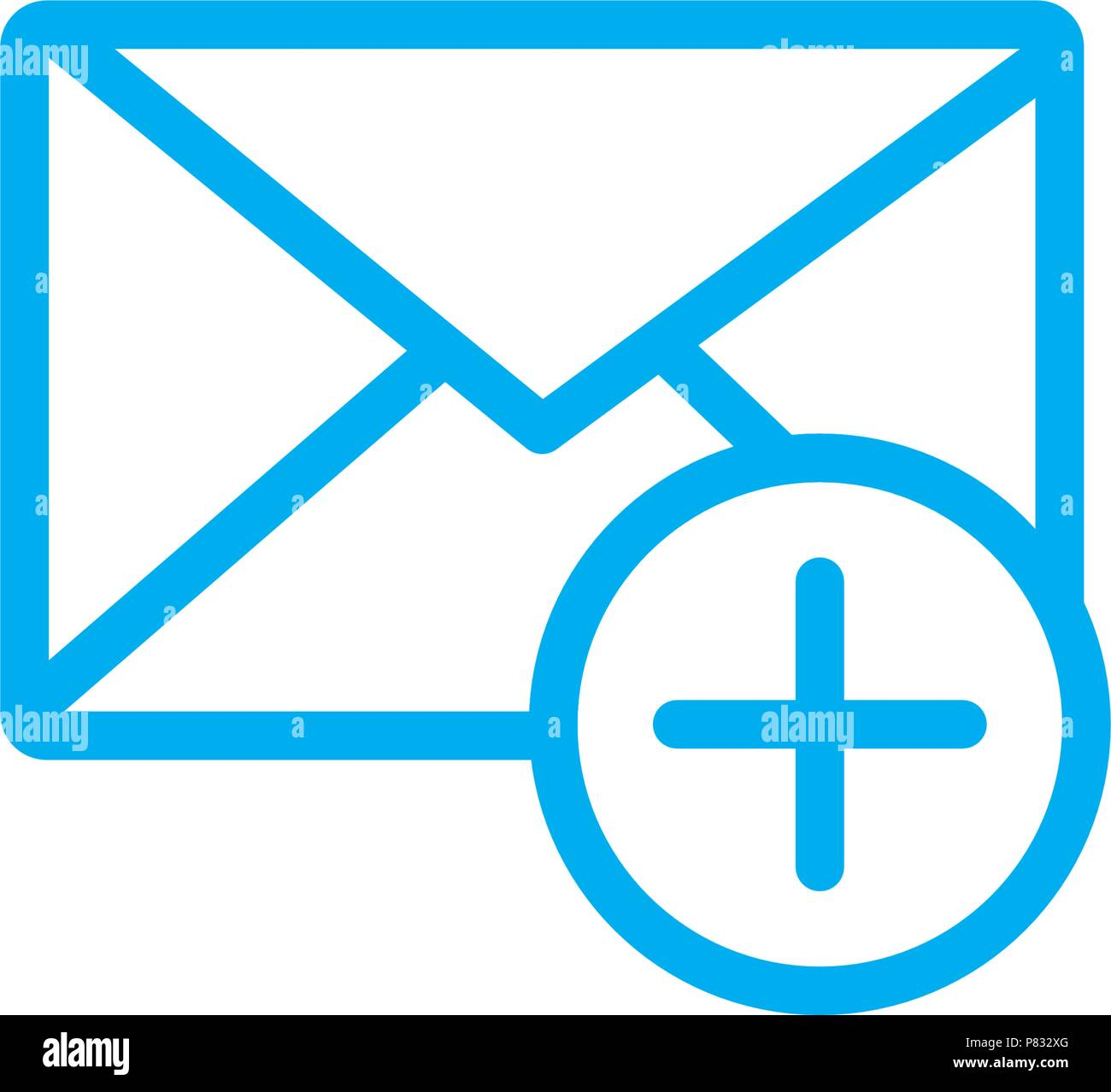 inbox icon,web icon vector template - Stock Image