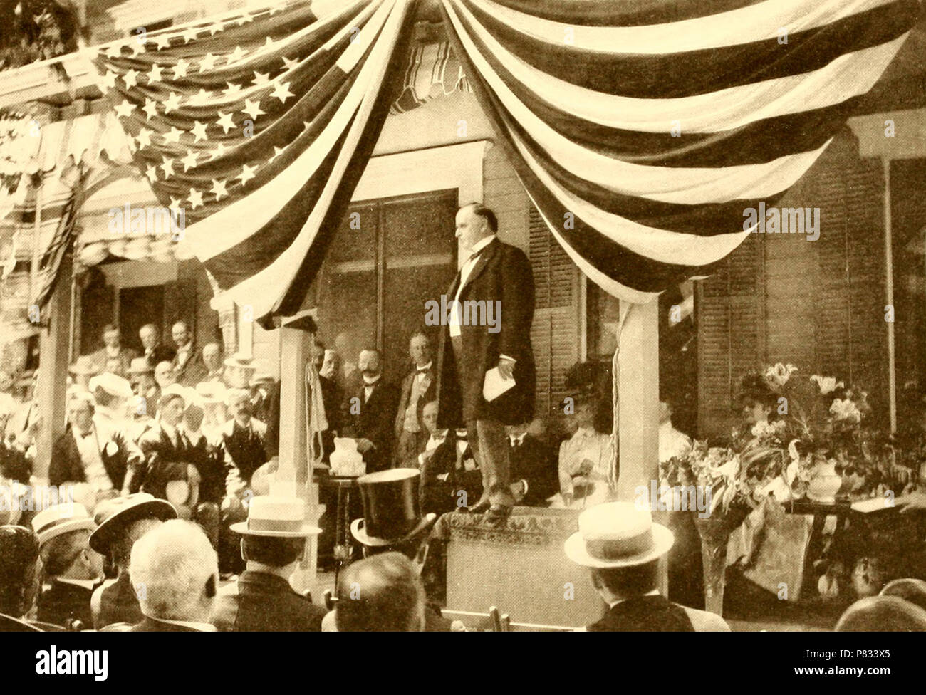 William McKinley accepting his first nomination for the Presidency at his home in Canton, Ohio 1896 - Stock Image