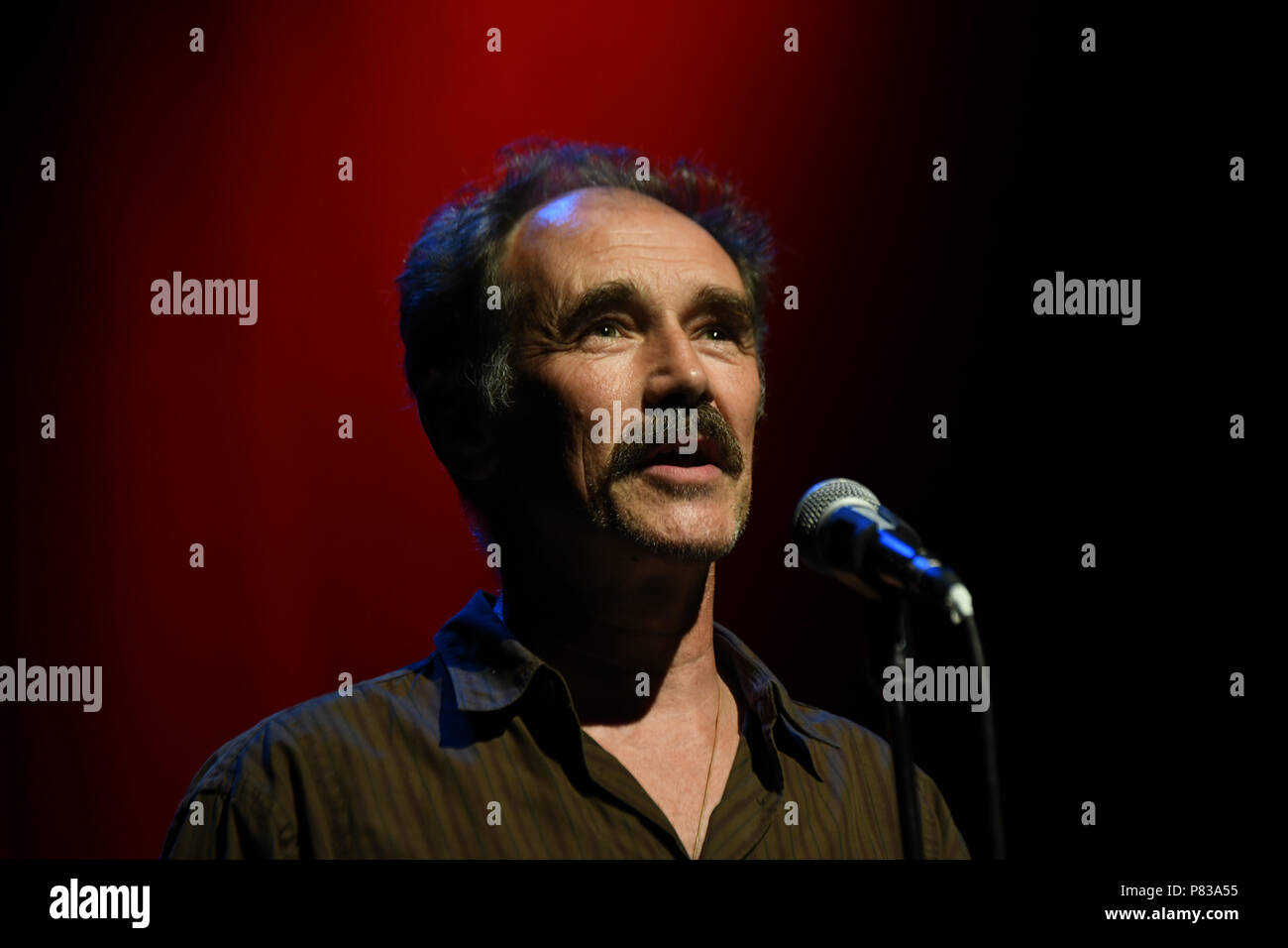 London, UK. 8th July 2018. Mark Rylance is an actor preforms at the Just Say No - Artists Against Trump & War host by Stop the War Coalition, Trump is not welcome in the UK at The Shaw Theatre on 8th July 2018. Credit: Picture Capital/Alamy Live News - Stock Image
