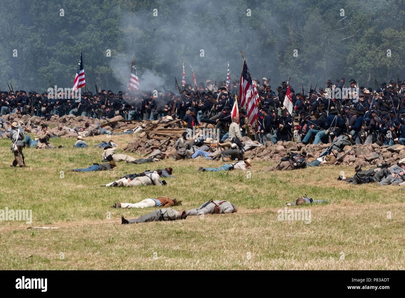 Gettysburg, Pennsylvania, USA  8th July, 2018  Confederate