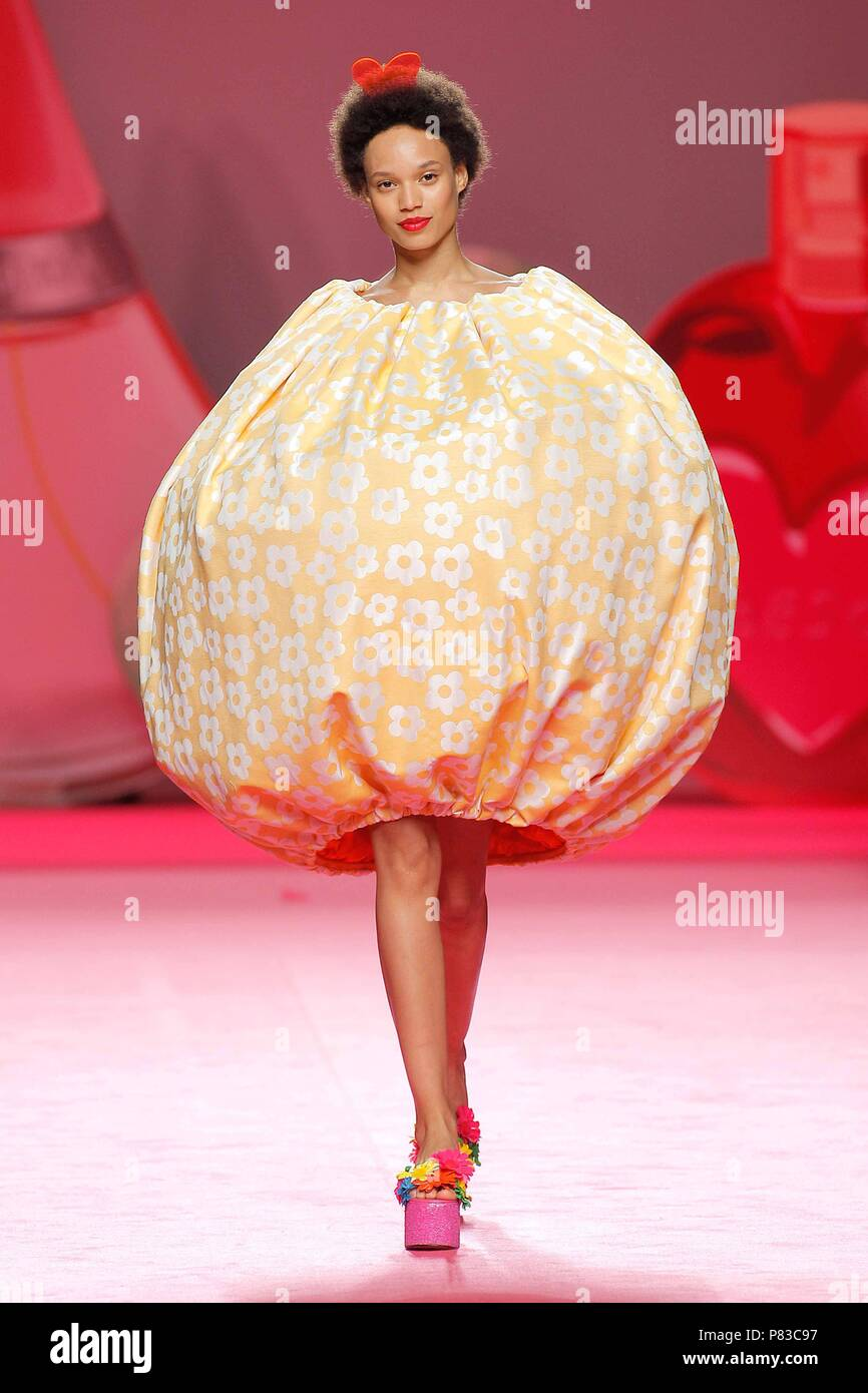 null Model during Agatha Ruiz de la Prada catwalk in Mercedes-Benz Madrid  Fashion Week on Sunday 08th July 2018 fd230760572