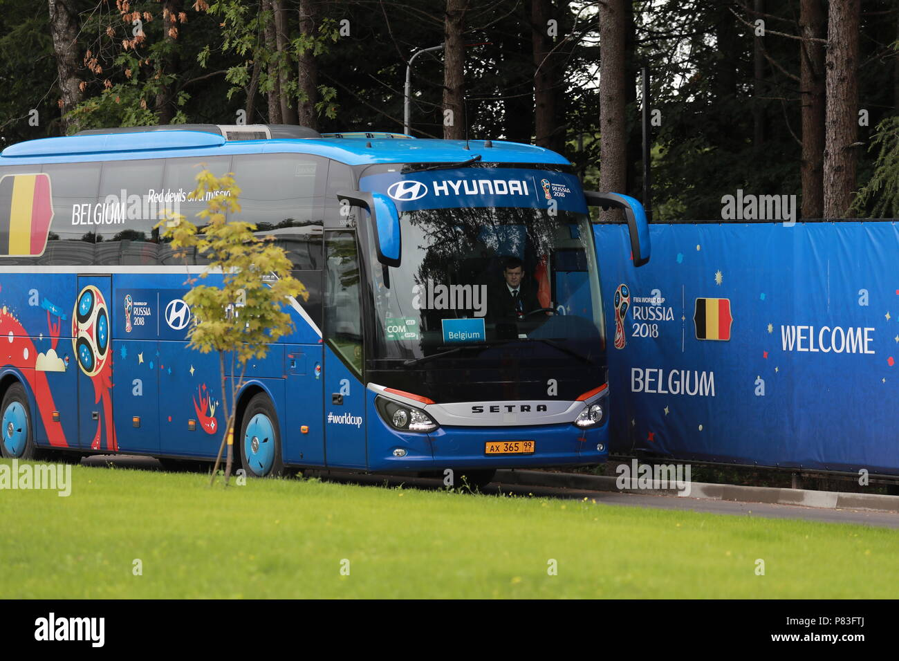 502227d59 MOSCOW REGION, RUSSIA - JULY 9, 2018: A bus of the Belgian men's national  ...