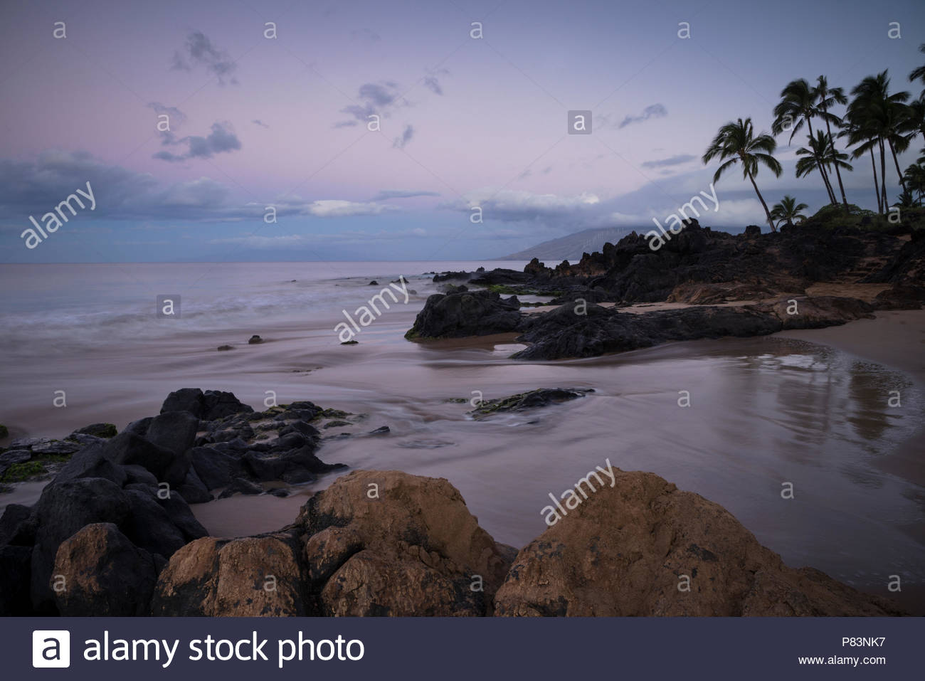 Kamaole Beach Park II at Dawn, Maui, Hawaii Stock Photo