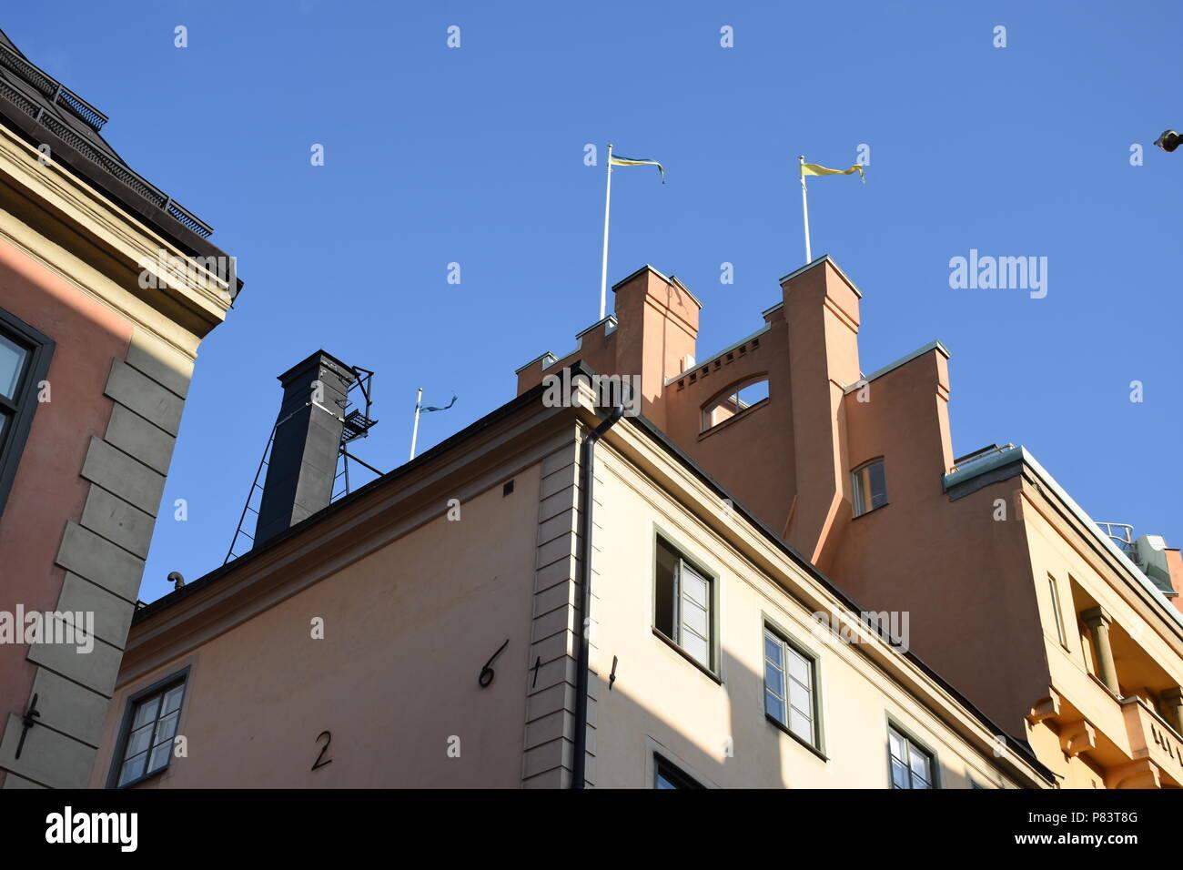 Stockholm, Schweden, Skandinavien, Stadt, Hauptstadt, Södermalm, Gamla Stan, Altstadt, Bürgerhaus, Jugendstil, Kirche Stock Photo