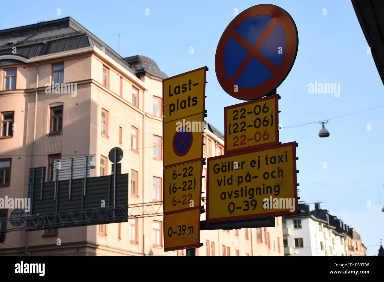 Schweden, Stockholm, Verkehrsschilder - Stock Image