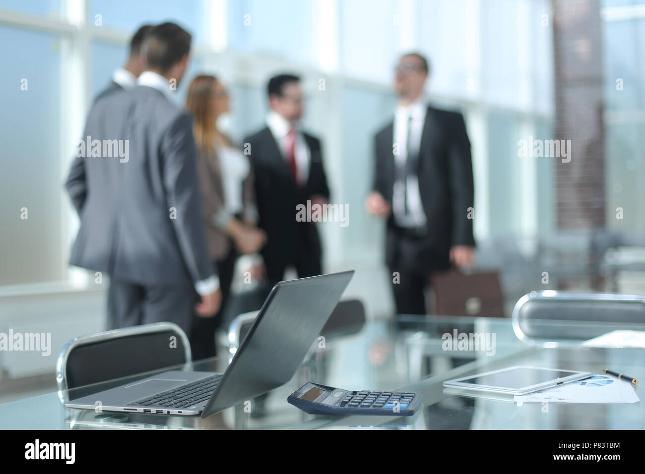 work Desk in a modern office. - Stock Image