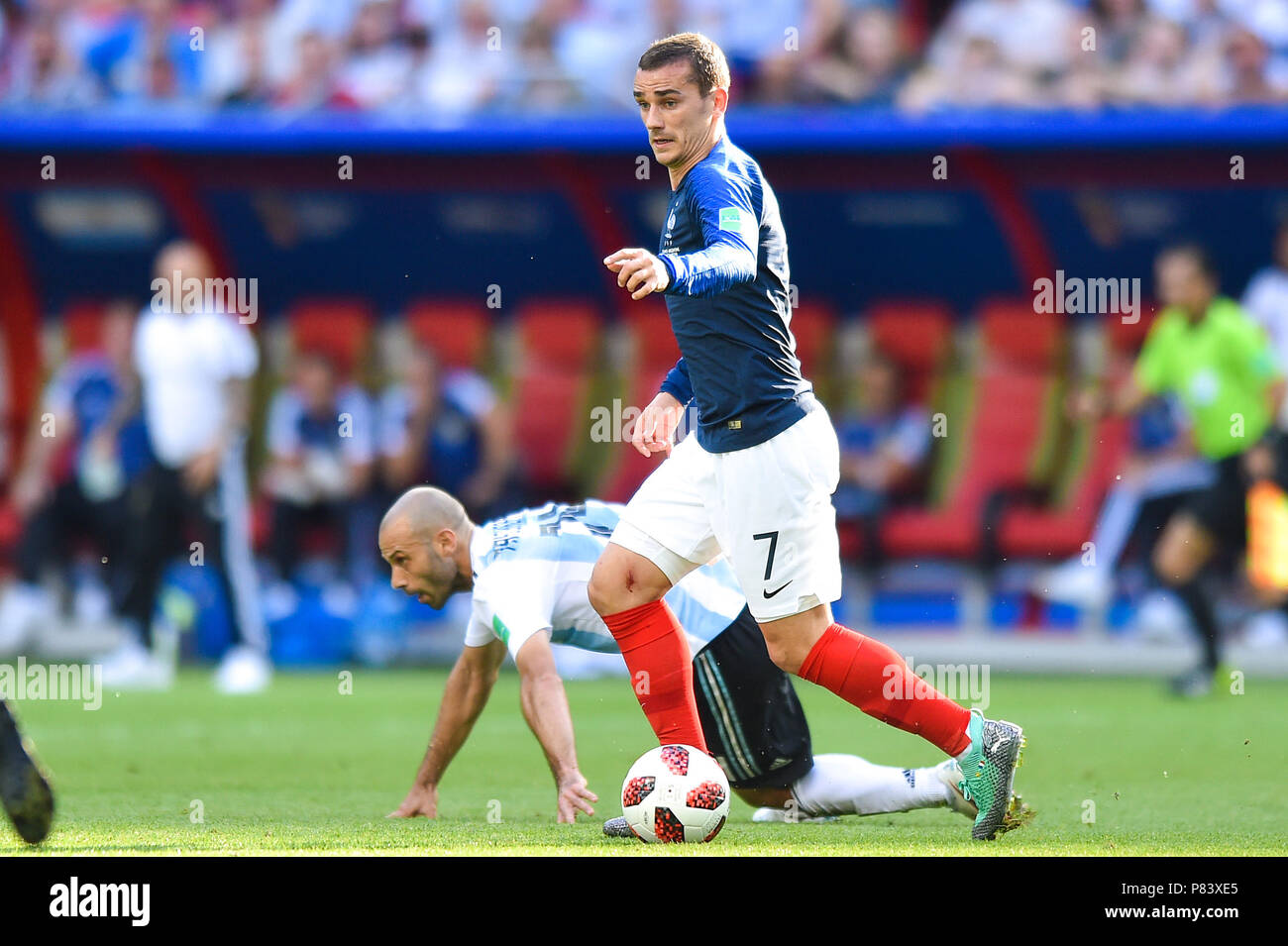 bdcadcd6be2932 Antoine Griezmann of France during the 2018 FIFA World Cup Russia Round of 16  match between