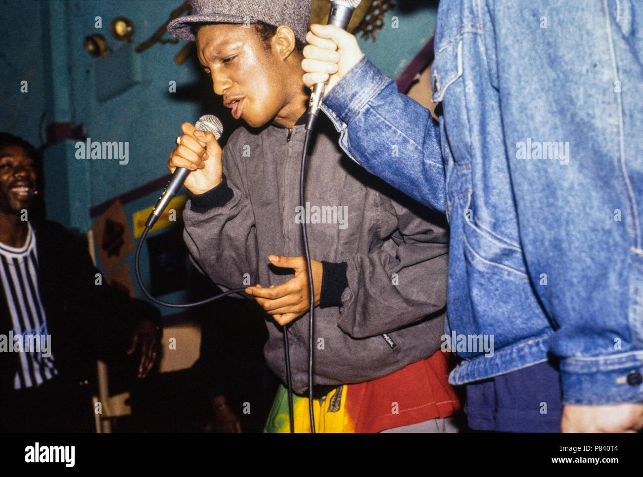 Massive Attack featuring Tricky in concert, SOBs, New York City, 30 October 1991 Stock Photo