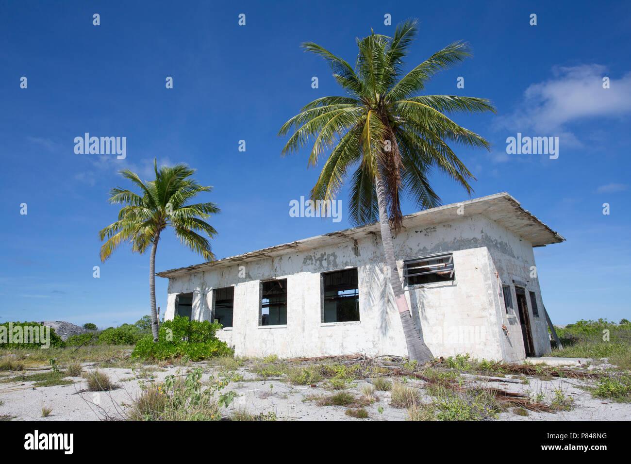WWII ruins on Kanton Island, Kiribati - Stock Image