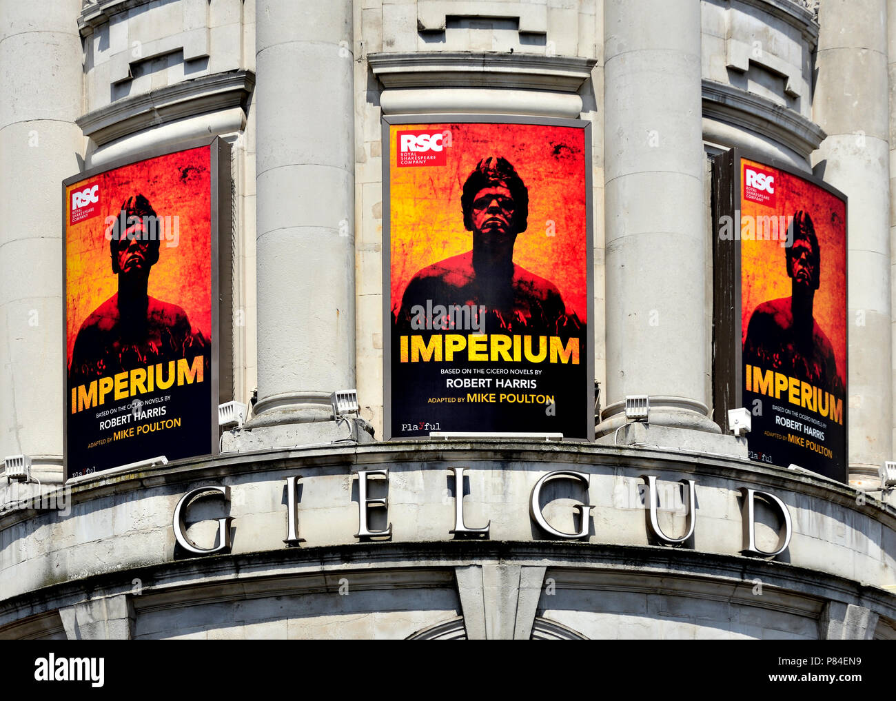 'Imperium' (by Mike Poulton) at the Gielgud Theatre, Shatesbury Avenue (July 2018) London, England, UK. - Stock Image