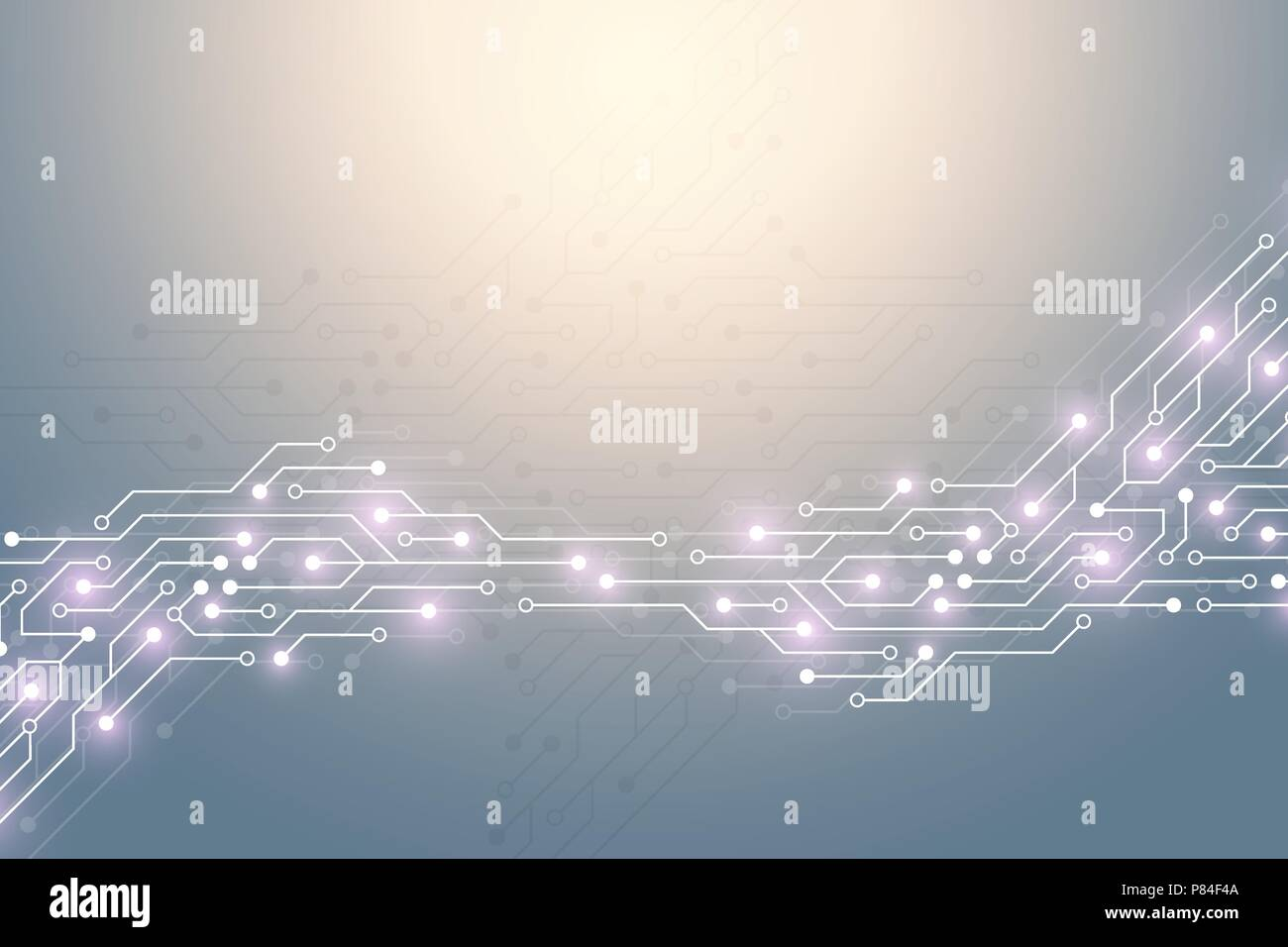 Abstract Technology Background With Circuit Board Texture Graphic Printed Electronics Vector Design Electronic Motherboard Communication And Engineering Concept