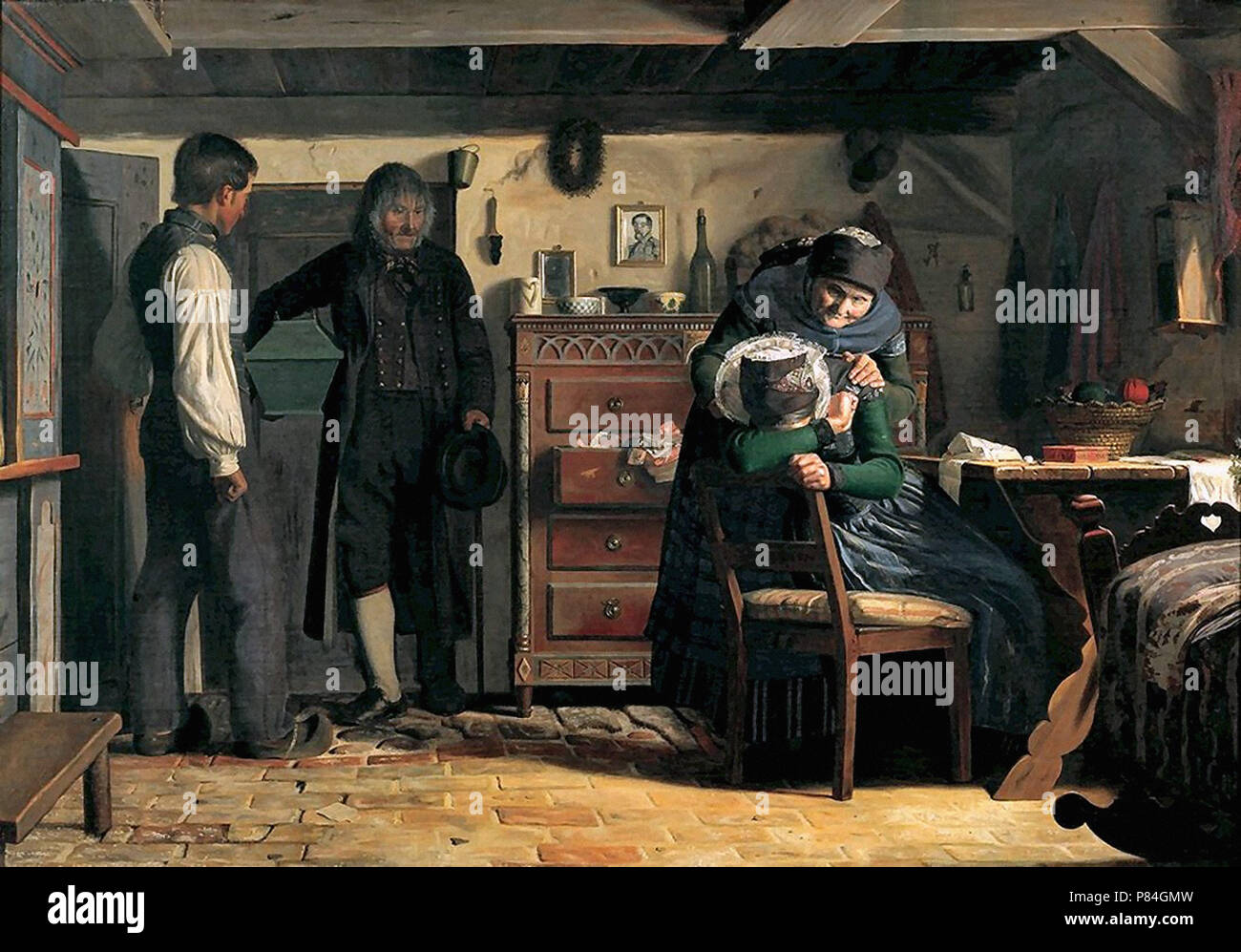 Dalsgaard  Christen - Distraught Woman Being Consoled - Stock Image