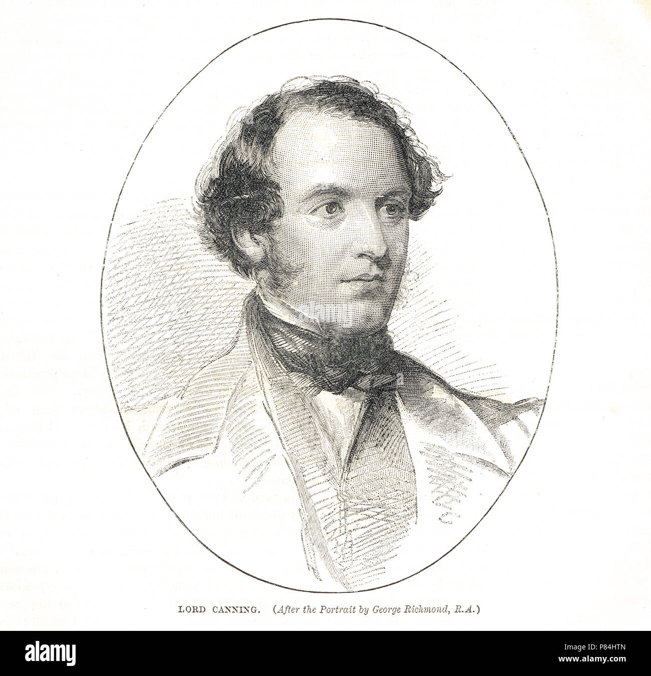 Charles Canning, 1st Earl Canning , Governor-General of India during the Indian Rebellion of 1857, and the first Viceroy of India - Stock Image
