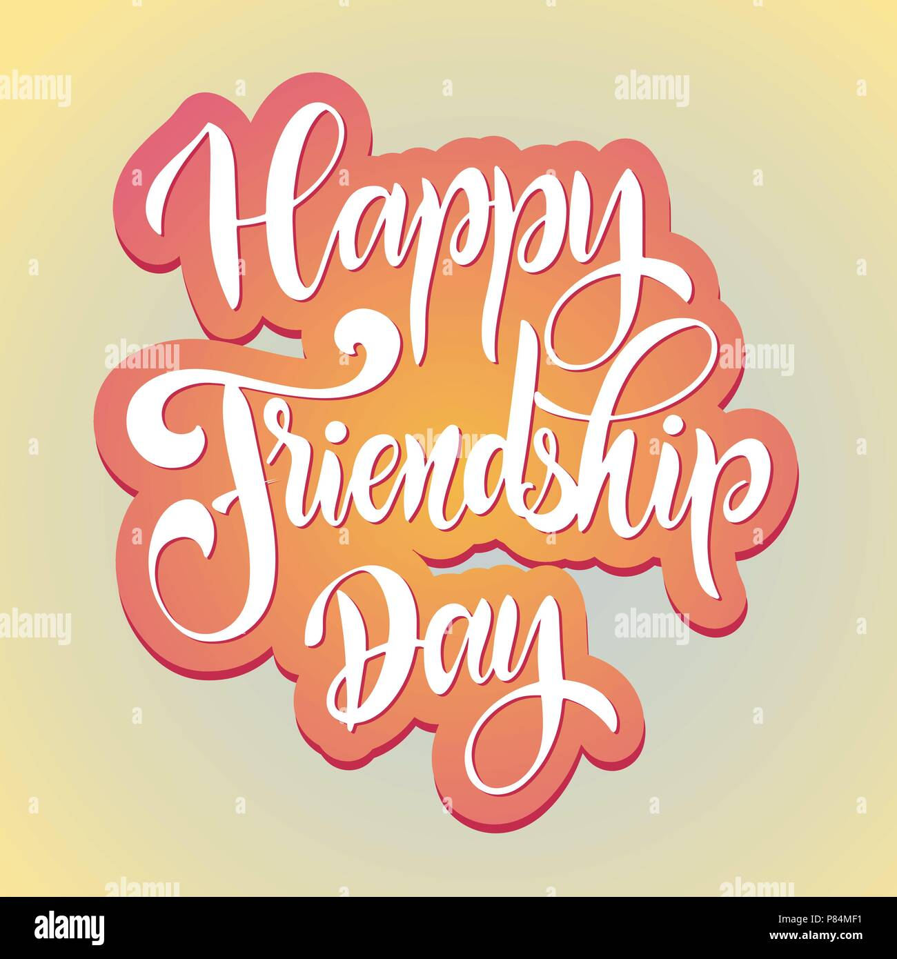 Friendship Day Hand Drawn Lettering Vector Elements For Invitations