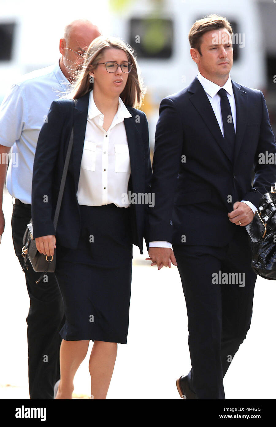 Liam Rosney 32 And Victoria Rosney 31 Arrive At Mold Crown Court In Mold Where They Are Charged In Connection With Death Of Olympic Cyclist Chris Boardman S Mother Carol Who Died After
