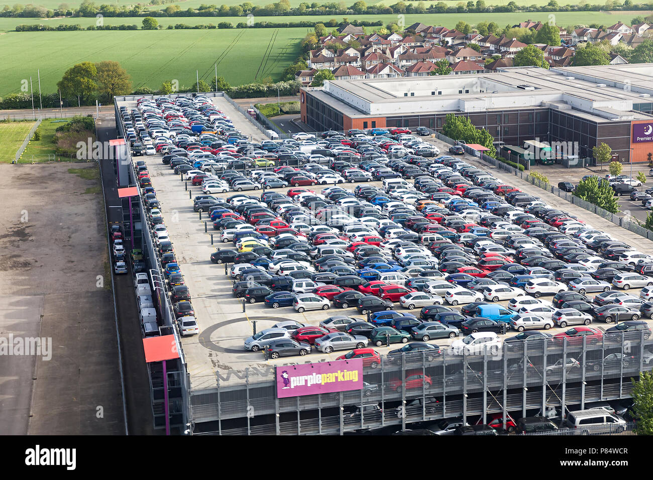 Airport Parking Heathrow Stock Photos Airport Parking Heathrow