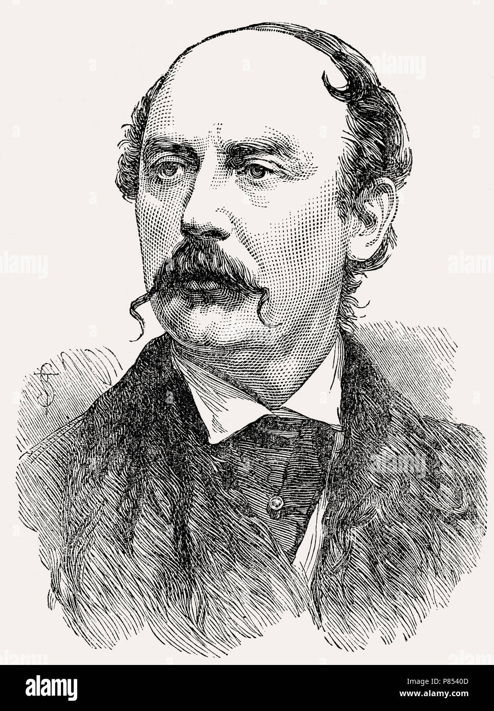 Captain Andrew Frederick Weatherby, British officer, Second Boer War, From British Battles on Land and Sea, by James Grant Stock Photo