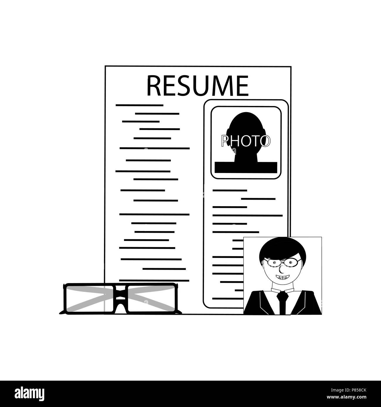 resume black white icon cv stock photos  u0026 resume black white icon cv stock images