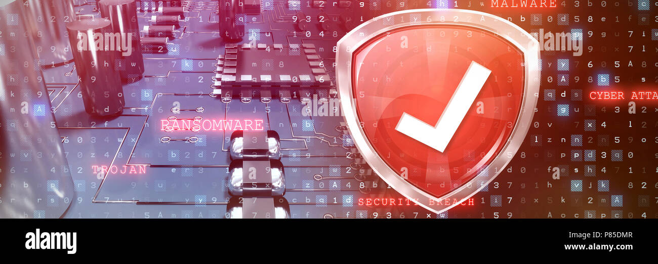 Composite image of red symbol validation - Stock Image