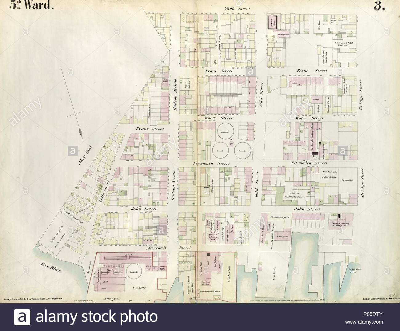Plate 3 Map Bounded By East River Brooklyn Navy Yard York Street
