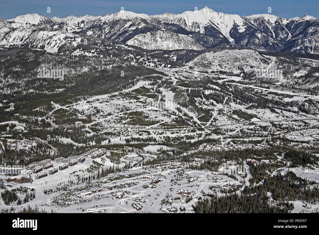 big sky montana ski resort, usa stock photo: 211563191 - alamy