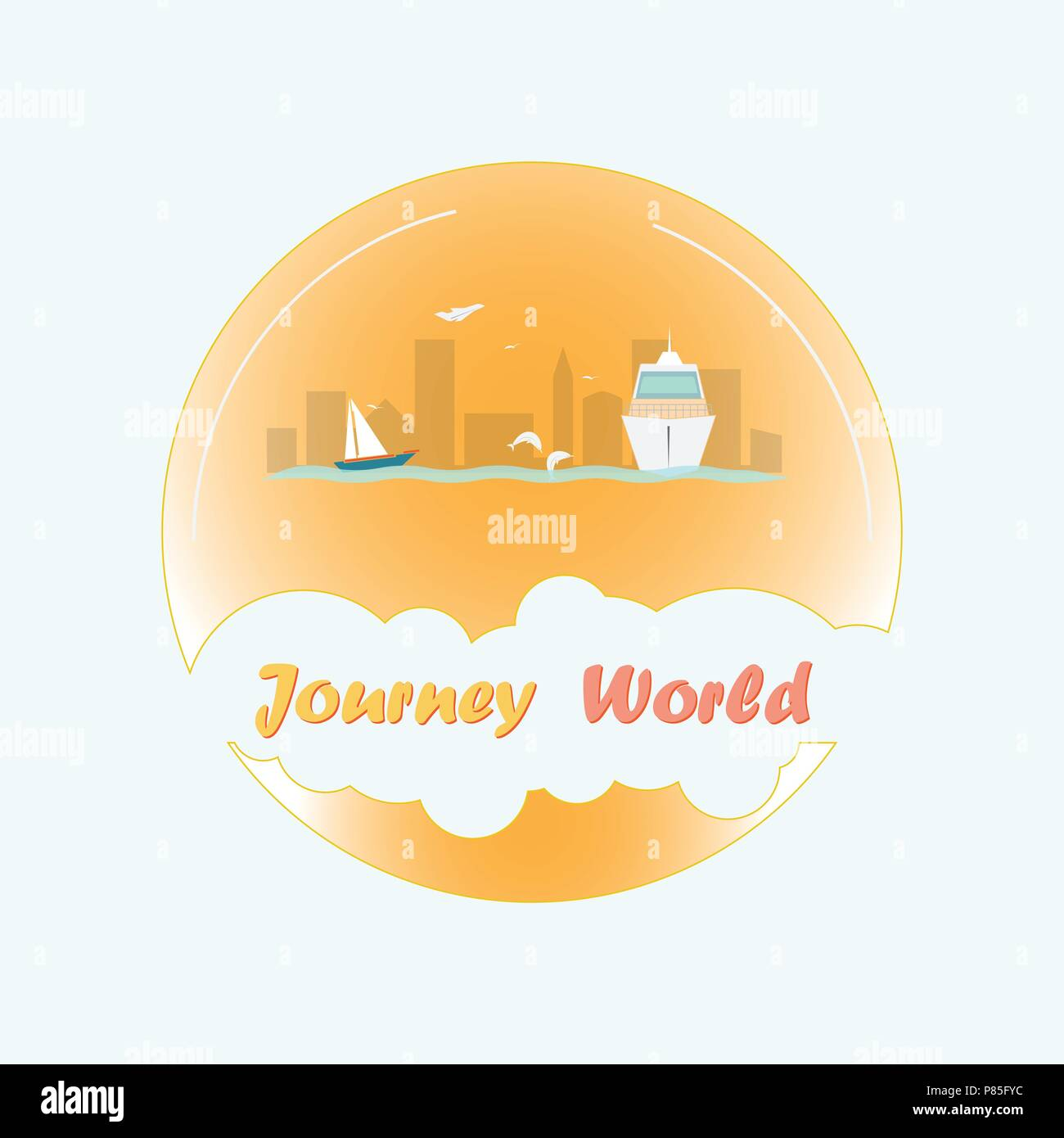 Tours around the world - Stock Vector