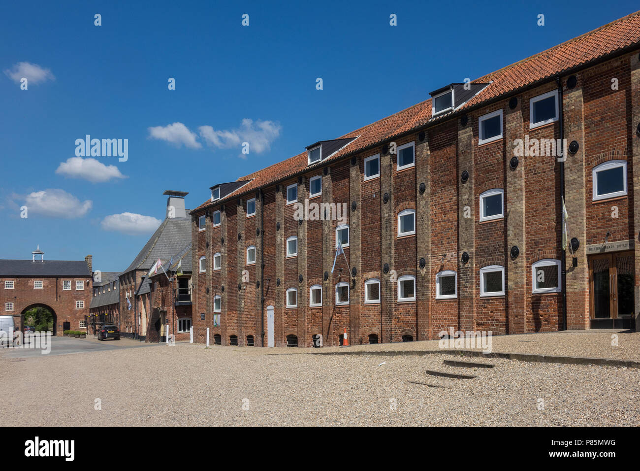 England, Suffolk, Aldeburgh, Snape, Maltings, Britten-Pears building - Stock Image