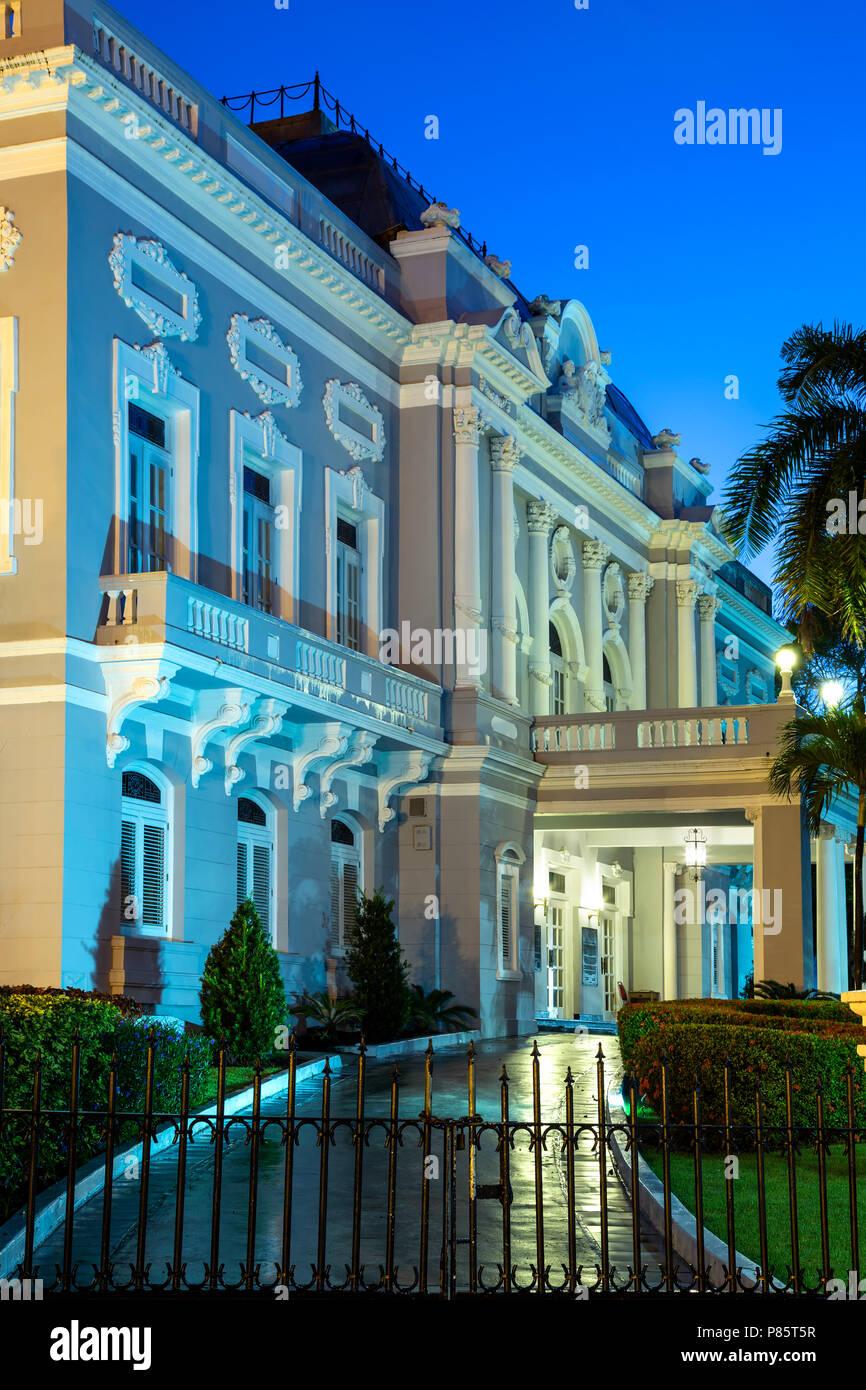 Puerto Rico Reception Center (formerly Antiguo Casino de San Juan), Beaux Arts style, Old San Juan, Puerto Rico - Stock Image