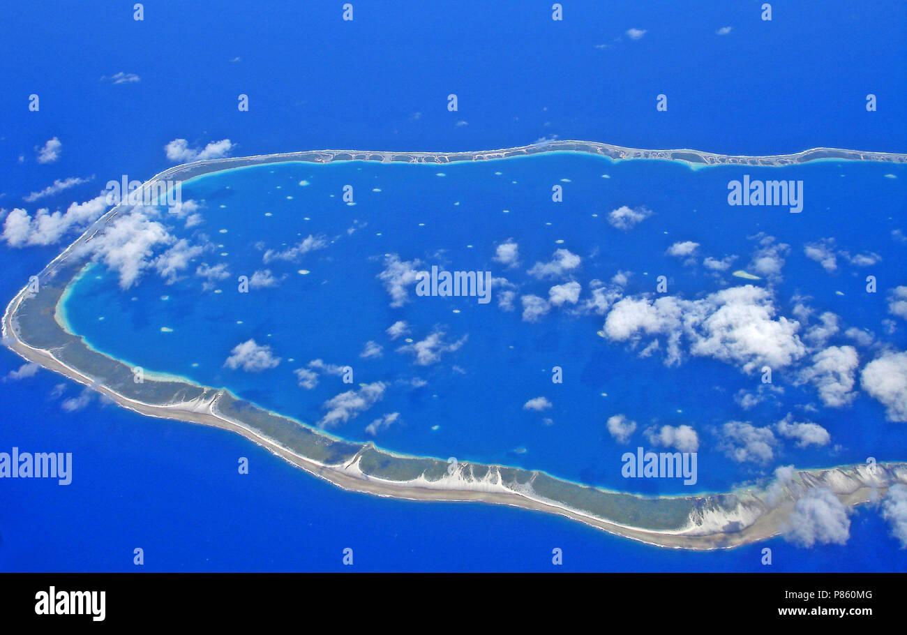 Atol Polynesië, Atoll Polynesia - Stock Image