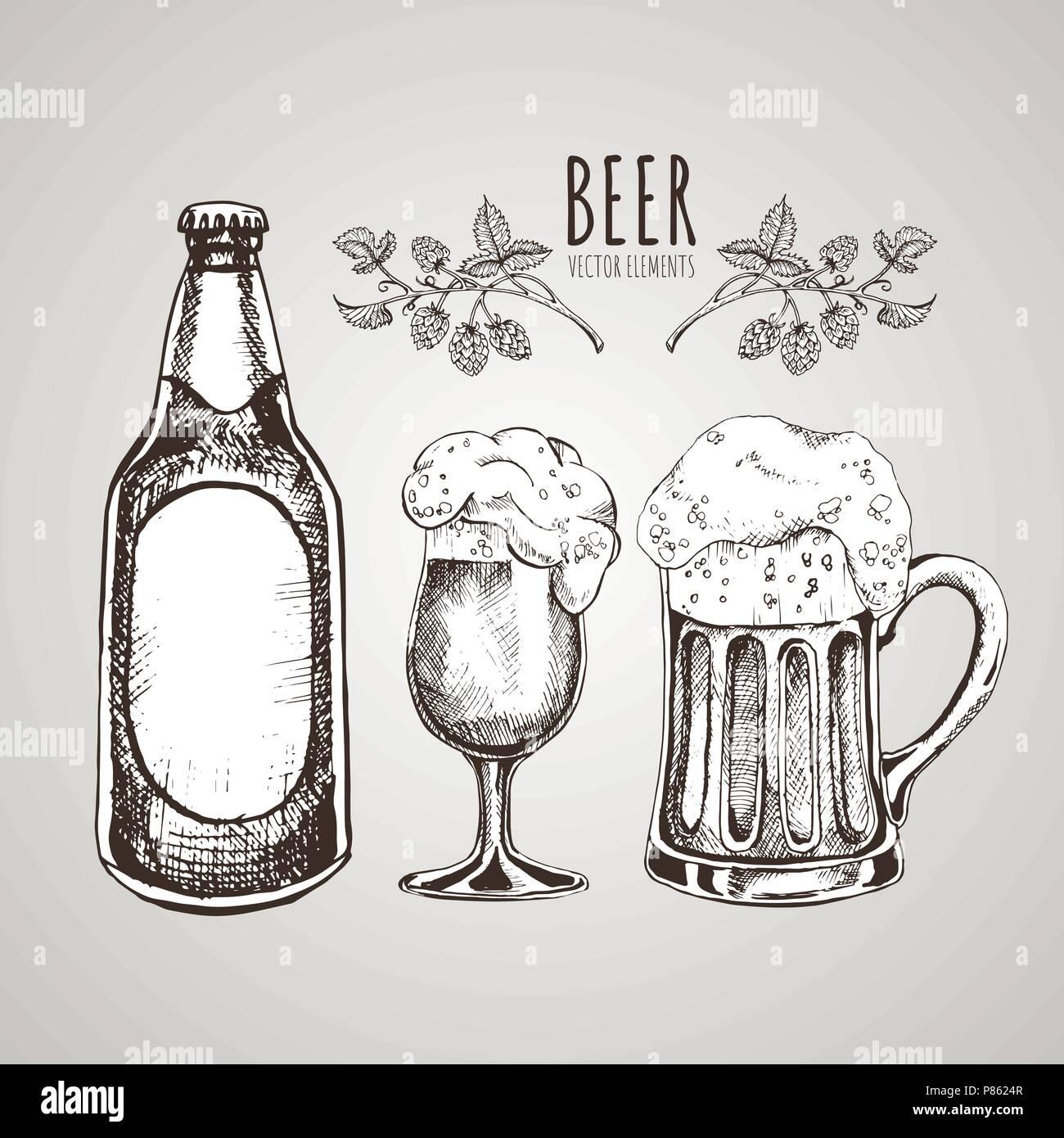 Vintage Beer Mug Illustration