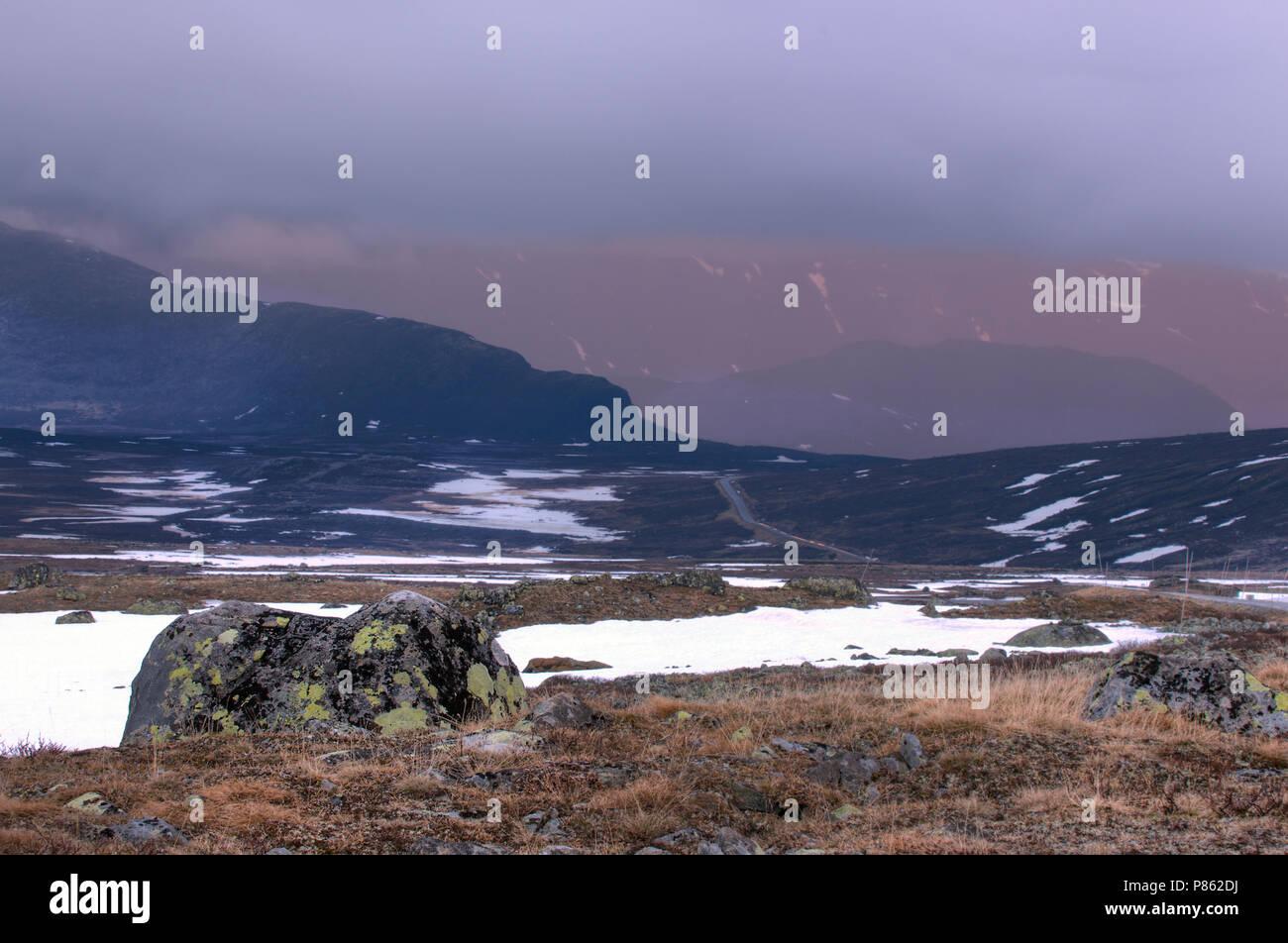 Zonsondergang Jotunheimen Noorwegen 2012 - Stock Image
