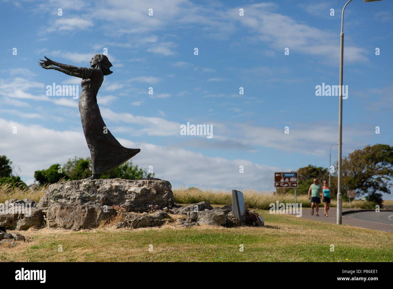Rosses Point, Sligo, Ireland. 8th July 2018: People enjoying sunny weather making the most out of the record high temperatures heating Ireland having great time on the beach or walking around the beautiful Rosses Point Village in County Sligo Ireland . - Stock Image