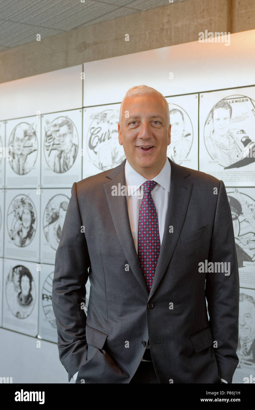 Garden City, New York, USA. 21st June, 2018. Former NASA space shuttle astronaut MIKE MASSIMINO is inducted into Long Island Air & Space Hall of Fame Class of 2018 at Cradle of Aviation Museum. Credit: Ann Parry/ZUMA Wire/Alamy Live News - Stock Image