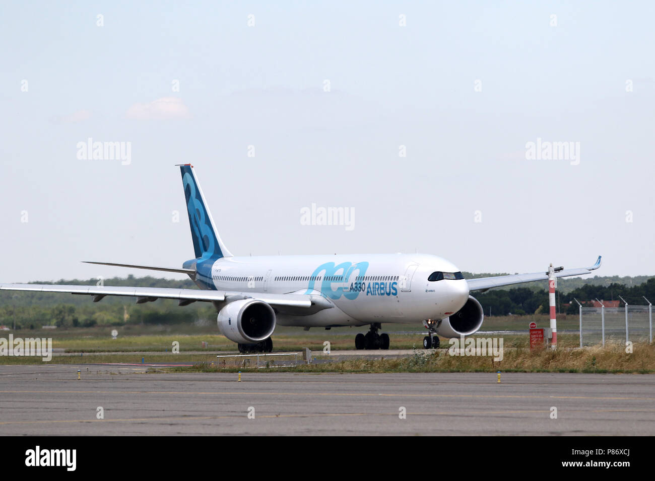 Toulouse ( France) July 10th, 2015 ;  Airbus A330 NEO on toulouse airport next of airbus sites  Credit: Sebastien Lapeyrere/Alamy Live News. - Stock Image